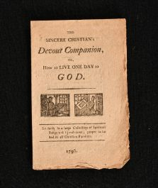 1796 The Sincere Chistian's Devout Companion or How to Live one Day to God