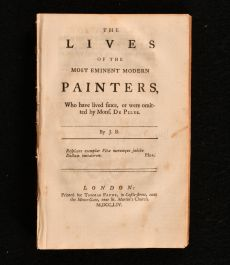 1754 The Lives of the Most Eminent Modern Painters
