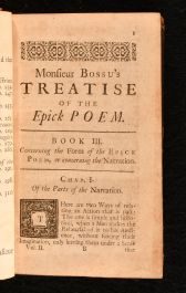 1719 2vol Monsieur Bossu's Treatise of the Epick Poem Containing Many Curious Reflexions