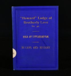1912 By-Laws of the 'Howard' Lodge of Brotherly Love