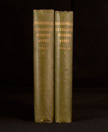 1890-92 2Vol Biographical Catalogue of the Pictures of Woburn Abbey Signed Illus