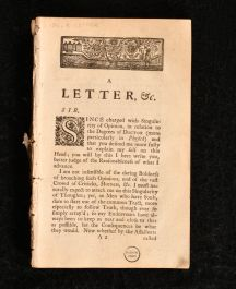 1736 A Letter on the Origin Nature and Dignity of the Degrees of Doctor More Particularly in Physick