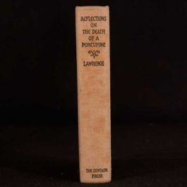 1925 Reflections on the Death of a Porcupine and Other Essays Lawrence First UK