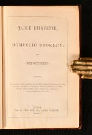 1854 Table Etiquette Domestic Cookery and Confectionery