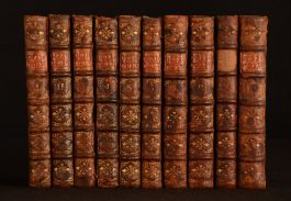 1754 10vols The Work of Alexander Pope Illustrated Leather Uncommon