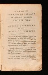 1799 An Account of the Proceedings of the Acting Governors of the House of Industry