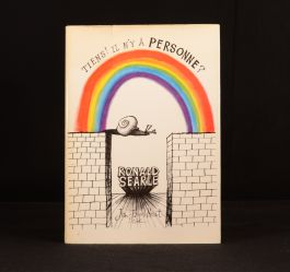 1969 Tiens! Il N'y a Personne? Ronald Searle Snails First French Edition