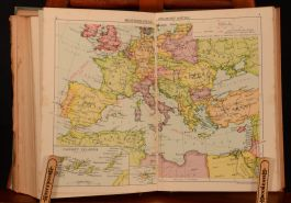 1930 South and East African Year Book and Guide Brown Colour Atlas Map