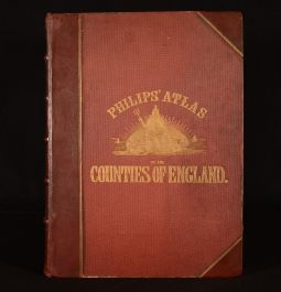 1875 Philips' Atlas of the Counties of England, Reduced From the Ordnance Survey