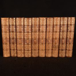 1855-1857 10 Vols Works of Henry, Lord Brougham