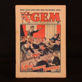 1934-35 3vols The Gem Magazine Paper For British Boys Illustrated