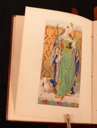 1869 The Legend of Saint Ursula Edmund Hatfield Engraved Borders Coloured Frontispiece