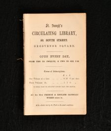 c1880 St Joseph's Circulating Library 50 South Street Grosvenor Square