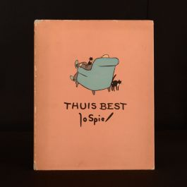 1951 Thuis Best Jo Spier Dustwrapper Profusely Illustrated Dutch Very Scarce