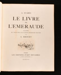 1927 Le Livre de l'Emeraude