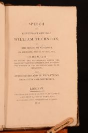 1818 Speech of Lieutenant General William Thornton First Ed Signed Presentation