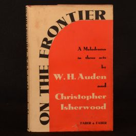 1939 On the Frontier Auden Isherwood First Edition Second Impression Dustwrapper
