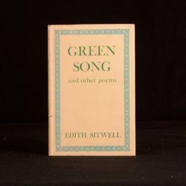 1944 Green Song and Other Poems Edith Sitwell First Edition Dustwrapper Poetry