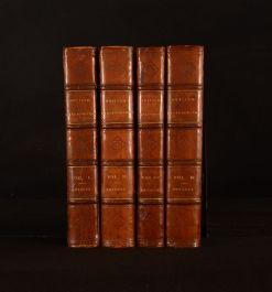 1810-14 4vol British Bibliographer Egerton Brydges Illustrated Limited Ed 1st