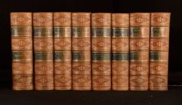 1880 8vol Selected Works of Thomas Babington Macaulay Speech Critical Historical