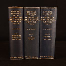 1930-1943 3vol History of the Australian Army Medical Services First Edition Maps