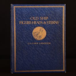 1925 Old Ship Figure-Heads and Sterns L. G. Carr Laughton Limited Edition Colour Plates