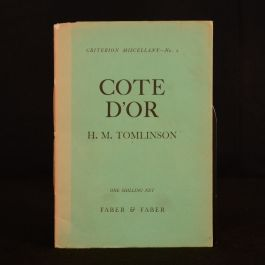 1929 Cote D' Or H. M. Tomlinson Criterion Miscellany Fourth Impression H E Bates