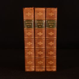1884 3vol Critical and Historical Essays New Edition Prize Binding University of Aberdeen