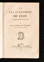 1818 Sur Les Evenemens de Lyon Au Mois de Juin 1817