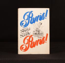 1977 Paris! Paris! Ronald Searle Irwin Shaw First Edition Dustwrapper Illustrated