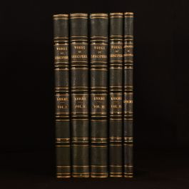 1873-1876 5vol The Works of Shakespeare Biography Charles Knight Imperial Edition Uniform Binding