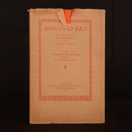 1928 Songs and Lyrics Beaumont and Fletcher Limited Edition Dustwrapper