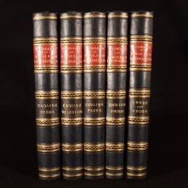 1875 5 Volumes Library of English Literature