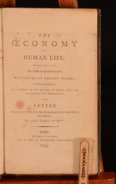 1795 The Oeconomy of Human Life Robert Dodsley Illustrated
