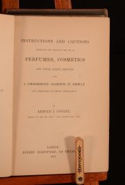 1868 Instructions and Cautions of Perfumes Cosmetics Toilet Articles Arnold Cooley