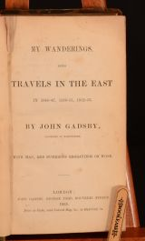 My Wanderings Being Travels in the East in 1846-7, 1850-51, 1852-53