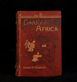 1890 2 Volumes In Darkest Africa Henry M. Stanley Travelogue