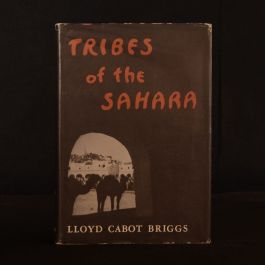 1960 Tribes of the Sahara Lloyd Cabot Briggs Dustwrapper Illustrated
