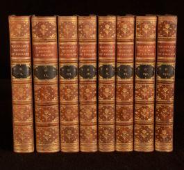 1880 8vol Thomas Babington Macaulay The History of England Riviere Binding