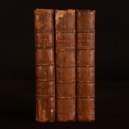 1764 3vols of The Works of Alexander Pope Poetry Full Calf Mr Warbuton