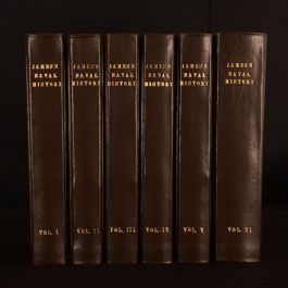 1837 6vol The Naval History of Great Britain William James Captain Chamier Illus