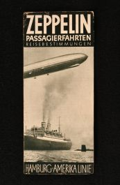 c1934 Zeppelin Passagierfahrten Reisebestimmungen with Timetable South America