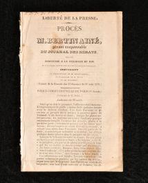 1829 Liberte de la Presse Proces de M Bertin Aine