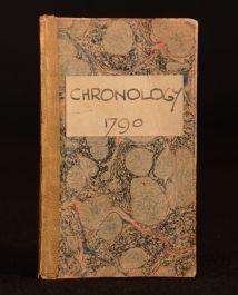 1790 Chronology Historian's Vade-Mecum Abridged John Trusler Scarce
