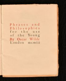 1903 Phrases and Philosophies For the Use of the Young