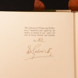 1932 Flowering Wilderness John Galsworthy Signed First Edition Limited Edition Slipcase