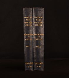 1927-31 4 Vol in 2 Flora of West Tropical Africa Hutchinson Dalziel Illustrated