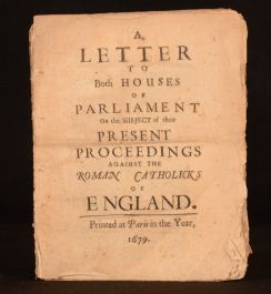 A Letter to Both Houses of Parliament on the Subject of Their Present