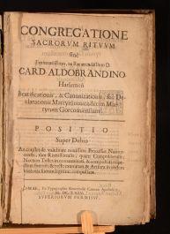 1664 Congregatione Sacroum Rituum Siue Eminentissimo