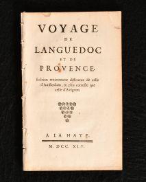 1745 Voyage de Languedoc et de Provence Edition Entierement Differente
